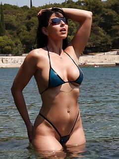 In Hot bikinis milfs